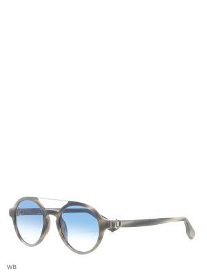 Солнцезащитные очки KT 504S 12K Kiton. Цвет: серый, серебристый