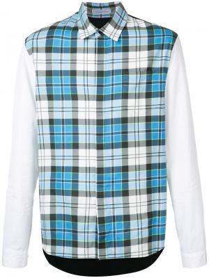 Рубашка в клетку J.W.Anderson. Цвет: синий