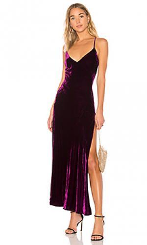 Платье-комбинация kate LoveShackFancy. Цвет: фиолетовый