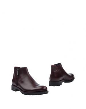 Полусапоги и высокие ботинки HOGAN. Цвет: баклажанный