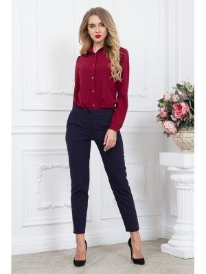Блузка SARTORI DODICI. Цвет: бордовый