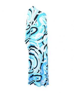 Длинное платье MICHAEL KORS. Цвет: лазурный
