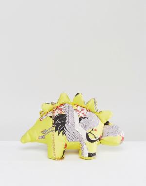ASOS Сумка со съемной цепочкой HERO Dexter Dino. Цвет: желтый