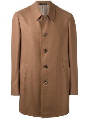 Пальто на пуговицах Corneliani. Цвет: коричневый
