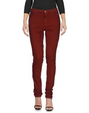 Джинсовые брюки AMERICAN VINTAGE. Цвет: красно-коричневый