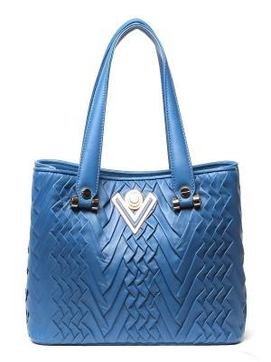 Сумка Valentino Orlandi. Цвет: голубой