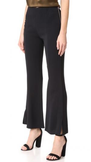 Расклешенные брюки Carel с молнией сбоку Elizabeth and James. Цвет: голубой