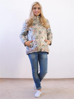 Куртка Адель. Цвет: хаки, бежевый
