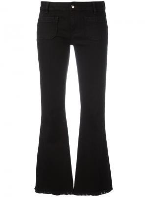 Укороченные джинсы буткат The Seafarer. Цвет: чёрный