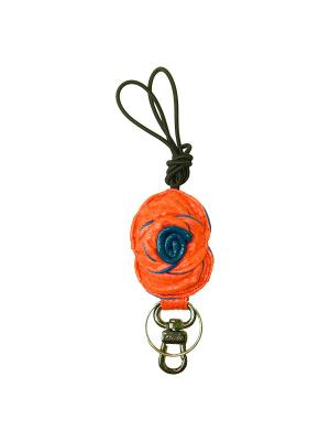 Ключница из кожи питона Aria Дерево Счастья. Цвет: оранжевый