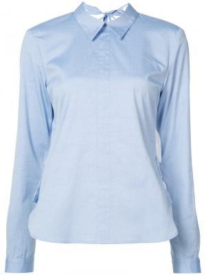 Рубашка с открытой спиной Sandy Liang. Цвет: синий