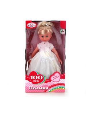 Кукла Карапуз 33см, невеста,русс. озвучка.. Цвет: белый