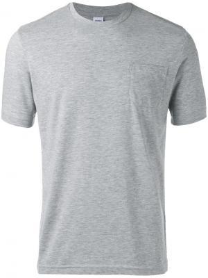 Классическая футболка Aspesi. Цвет: серый
