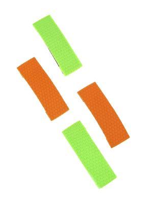 Заколка (4 шт.) Happy Charms Family. Цвет: оранжевый, зеленый