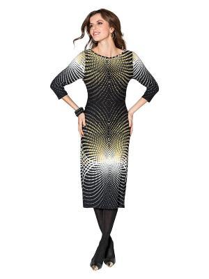 Платье APART. Цвет: черный, горчичный, белый