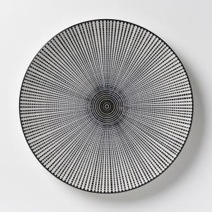 4 тарелки мелкие фарфоровые Shigoni AM.PM.. Цвет: черный + белый