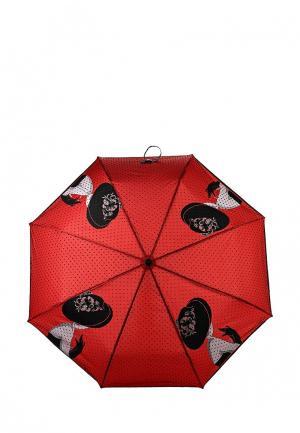 Зонт складной Flioraj. Цвет: красный