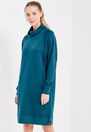 Платье Nike. Цвет: бирюзовый