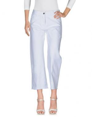Джинсовые брюки EACH X OTHER. Цвет: белый
