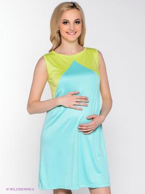 Платье для беременных 40 недель. Цвет: бирюзовый, салатовый