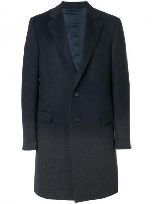 Пальто с градиентным эффектом Raf Simons. Цвет: серый