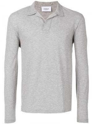 Рубашка-поло с длинными рукавами Dondup. Цвет: серый