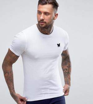 Good For Nothing Белая облегающая футболка с принтом на груди. Цвет: белый