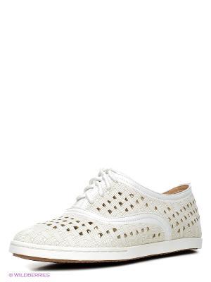 Ботинки Daze. Цвет: белый, бежевый