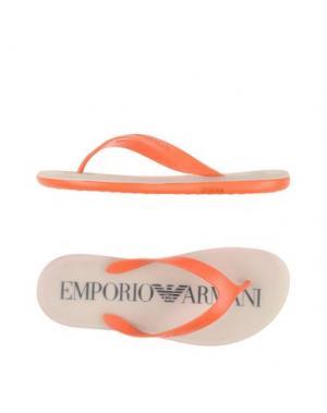 Вьетнамки EMPORIO ARMANI. Цвет: оранжевый