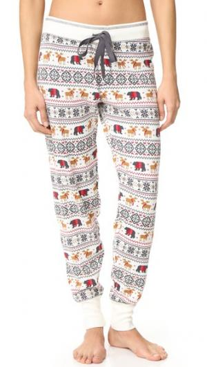 Пижамные брюки Mountain PJ Salvage. Цвет: коричневый