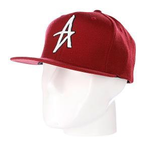 Бейсболка  Decades Snapback Hat Red Altamont. Цвет: бордовый
