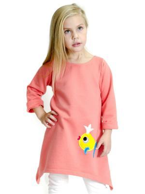 Платье Золотая рыбка Emily Rise. Цвет: розовый