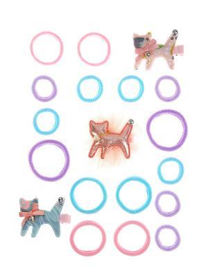 Набор аксессуаров детский LITTLE MANIA. Цвет: розовый, голубой, сиреневый