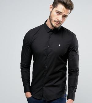 Jack Wills Черная рубашка скинни Hinton. Цвет: черный