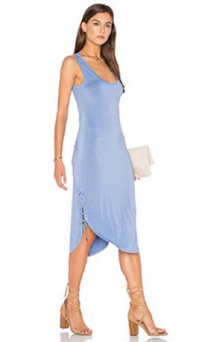 Платье stance Feel the Piece. Цвет: синий