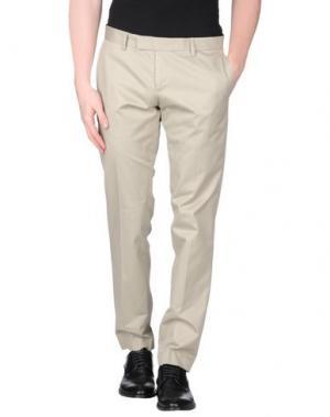 Повседневные брюки DAVID NAMAN. Цвет: светло-серый