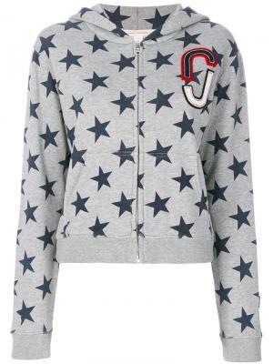 Толстовка с капюшоном и принтом звезд Marc Jacobs. Цвет: серый