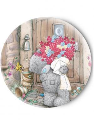 Зеркальце Tina Bolotina. Цвет: светло-коричневый, светло-серый