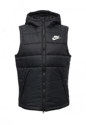 Жилет утепленный Nike. Цвет: черный