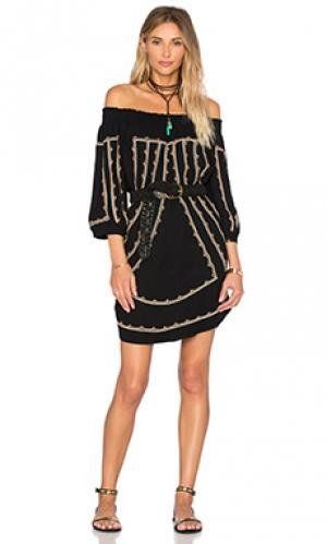 Платье со спущенными плечами Twelfth Street By Cynthia Vincent. Цвет: черный