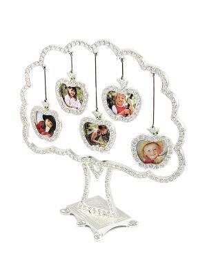 Фоторамка-дерево на 5 фото Русские подарки. Цвет: серебристый