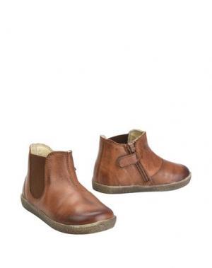Полусапоги и высокие ботинки FALCOTTO. Цвет: желто-коричневый