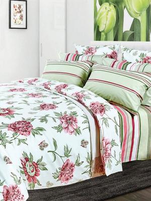 Комплект постельного белья Primavelle. Цвет: молочный, розовый, салатовый