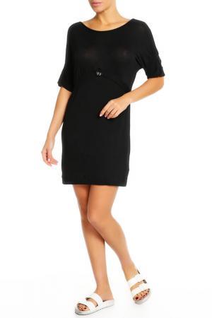 Платье домашнее Cotton Club. Цвет: черный