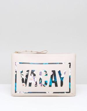 New Look Дорожная сумка на молнии Vacay. Цвет: белый