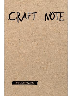 Craft Note. Экоблокнот для творчества с крафтовыми страницами (твердый переплет) Эксмо. Цвет: белый