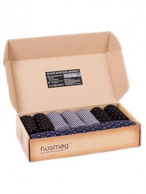 Набор носков Stylish 10 пар, с сургучной печатью. NosMag. Цвет: черный, темно-синий