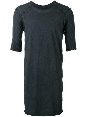 Длинная футболка Isaac Sellam Experience. Цвет: серый