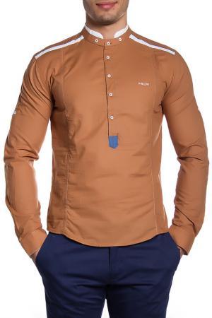 Рубашка MODACRISE. Цвет: коричневый