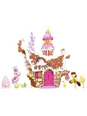 Коллекционный игровой набор пони Сахарный дворец Hasbro. Цвет: коричневый, розовый